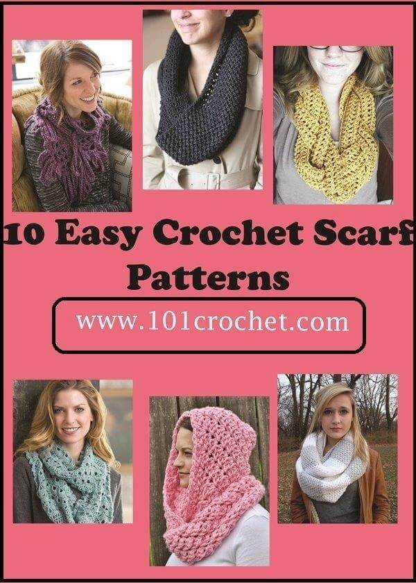 Facebook Crochet Patterns : 10 Easy Crochet Scarf Patterns 101 Crochet