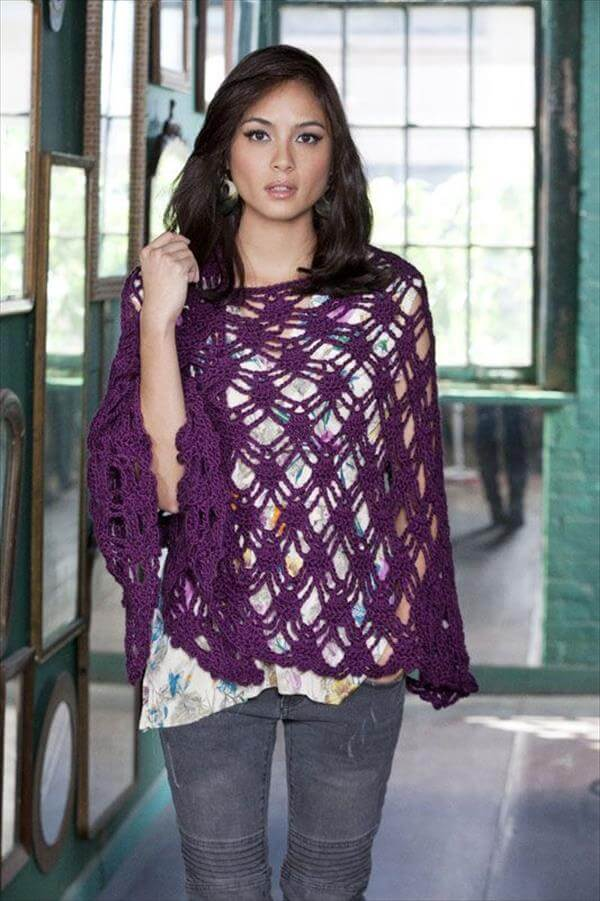 chic bohemian crochet shawl