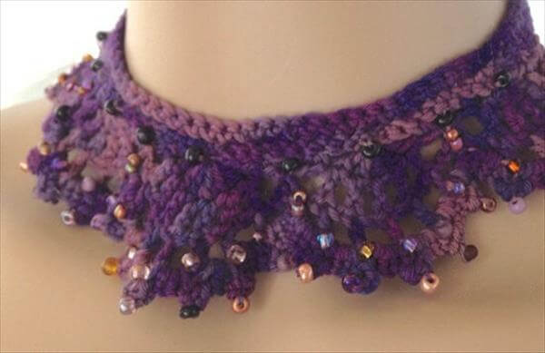 diy crochet necklace pattern