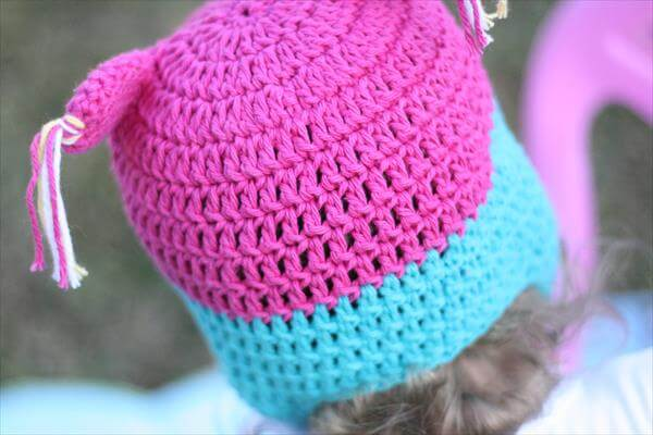 colorful owl crochet baby hat for babies