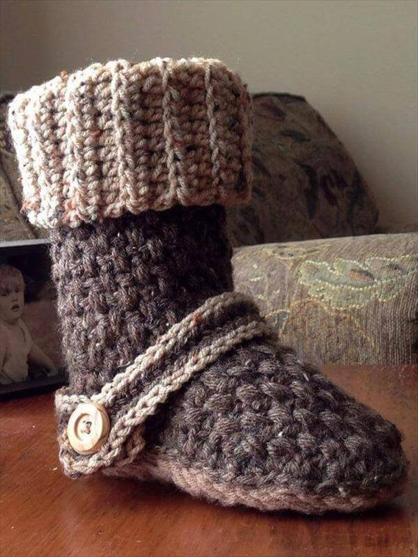 Crochet Free Patterns Slipper Boots : 10 DIY Free Patterns for Crochet Slipper Boots 101 Crochet