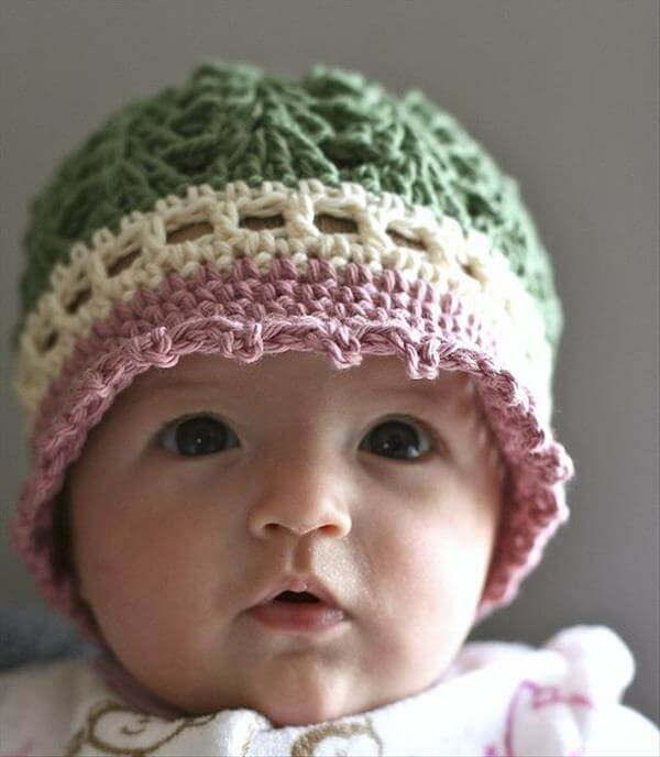 Crochet Patterns For Baby Girl : 10 DIY Cute Kids Crochet Hat Patterns 101 Crochet