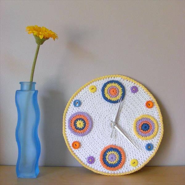 free crochet wall clock pattern