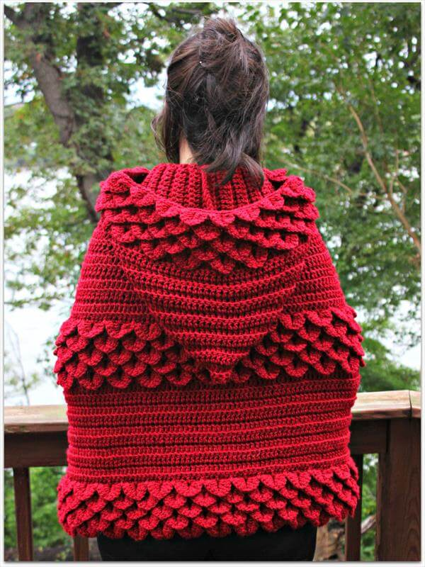 Free Crochet Pattern For Hooded Cape : Crochet Hooded Cape 101 Crochet