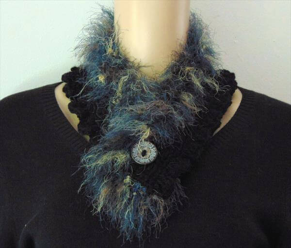 free chic crochet neckwarmer pattern