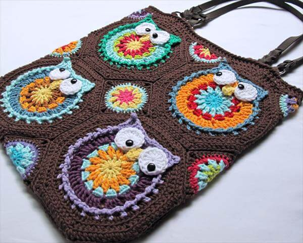 chic crochet owl tote pattern