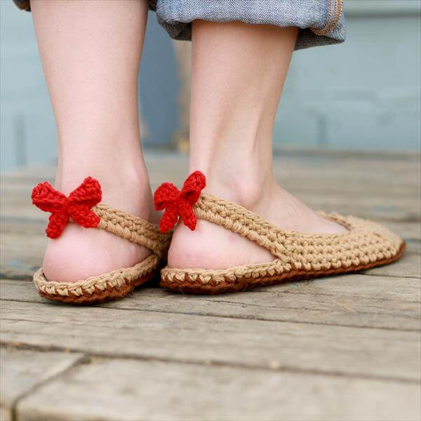 crochet chic slippers pattern