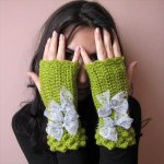 DIY Fancy Crochet Fingerless Gloves