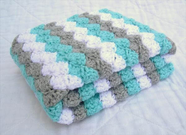 Diagonal Crochet Baby Blanket Pattern Diagonal Pattern Baby Blanket