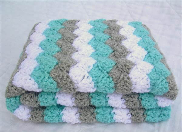 Crochet Patterns Free Baby Blankets For Beginners : Bright Color Baby Crochet Blanket Pattern 101 Crochet