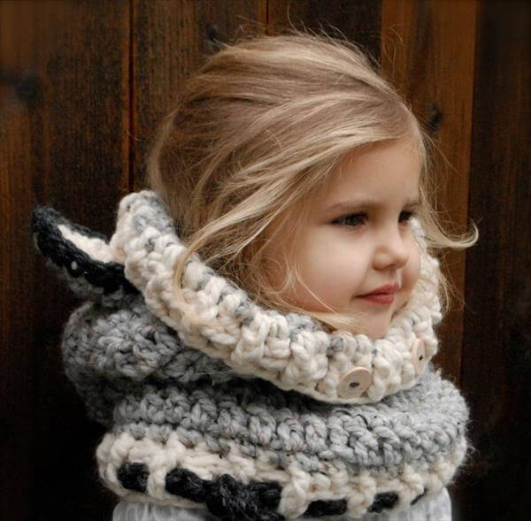 Free Knitting Patterns Cowl Hat : Crochet Wolf Baby Cowl Pattern 101 Crochet