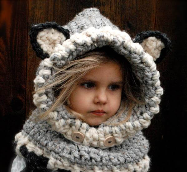 Free Crochet Pattern Toddler Hooded Cowl : Crochet Wolf Baby Cowl Pattern 101 Crochet