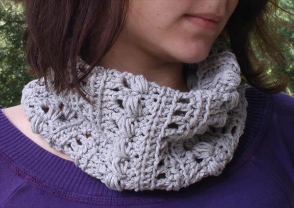 Crochet Infinity Scarf / Triangle Cowl 101 Crochet