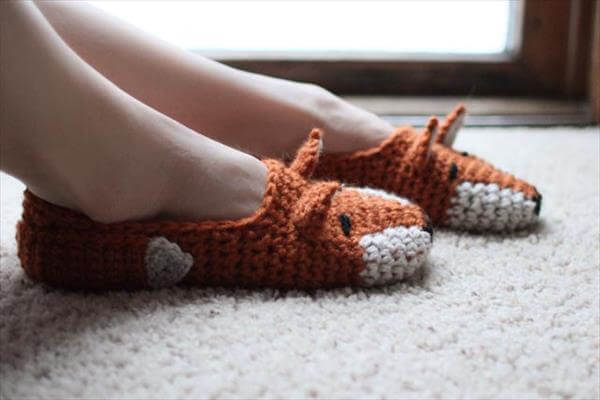 fox shoes pattern from crochet