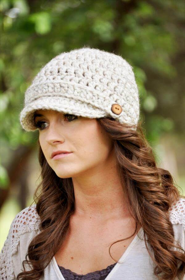 Free Crochet Pattern For Ladies Beanie Hat : Crochet Women Newsboy Hat Pattern 101 Crochet