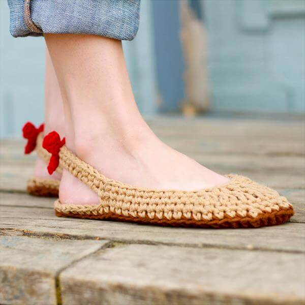 free crochet women shoes pattern