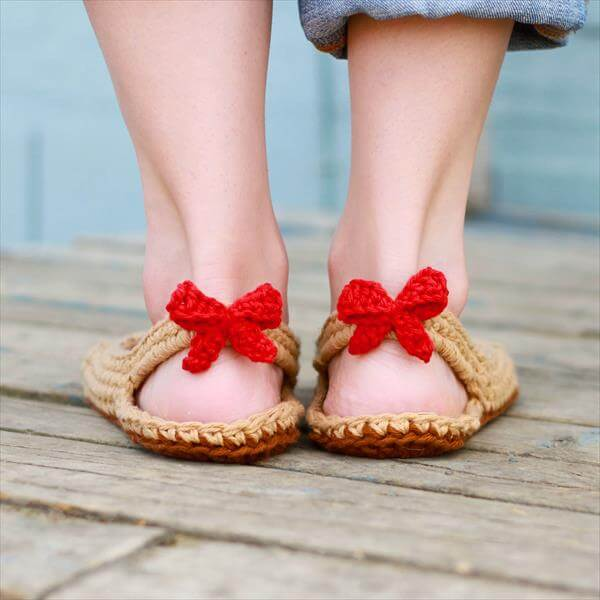 diy crochet winter slipper pattern