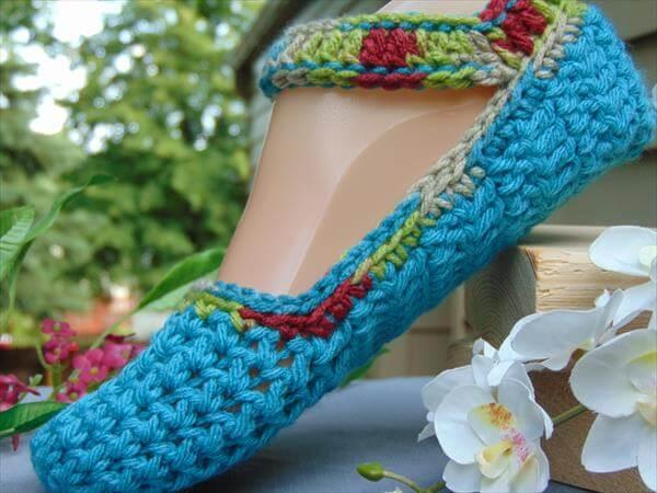 diy crochet slipper pattern for women
