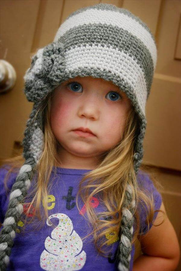 diy braided crochet hat pattern