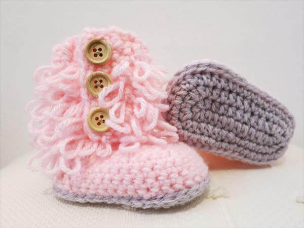 diy crochet baby snow shoes