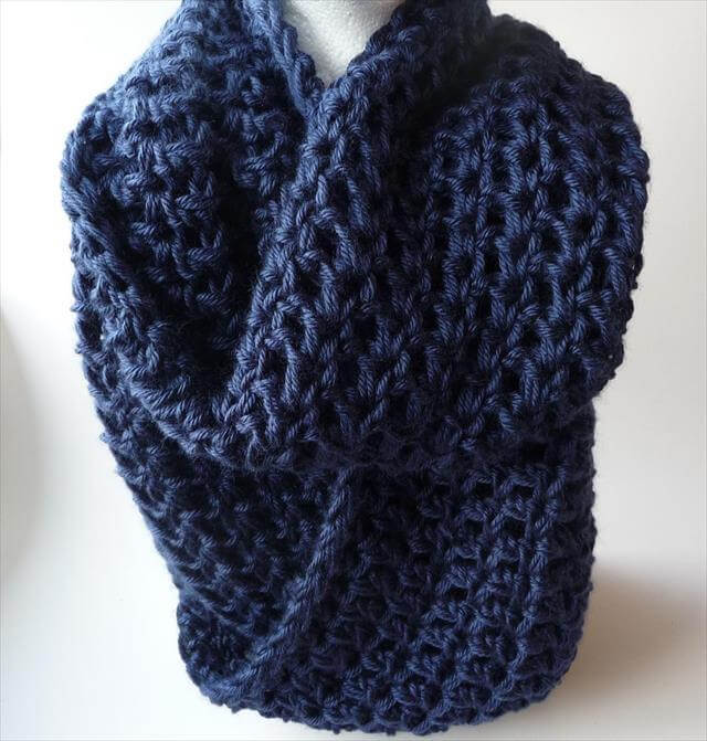 Free Crochet Pattern For Infinity Scarf With Hood : crochet infinity cowl scarf pattern Car Tuning