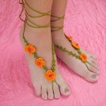 DIY Crochet Barefoot Poppy Sandals