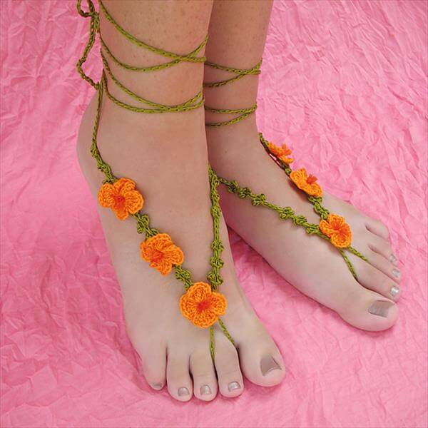 Crochet Pattern For Baby Barefoot Sandals : DIY Crochet Barefoot Poppy Sandals 101 Crochet