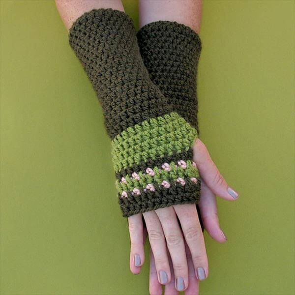 Crochet Patterns Arm Warmers : Free Crochet Arm Warmers 101 Crochet