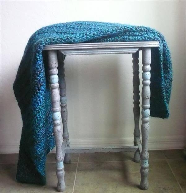 diy teal blue baby blanket crochet pattern