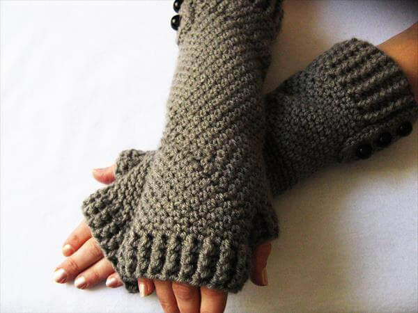 Crochet Patterns Gloves : Beautiful Crochet Fingerless Gloves 101 Crochet