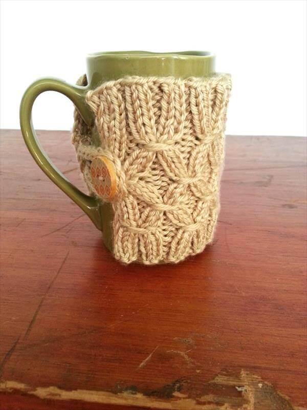 crochet coffee cup warmer pattern
