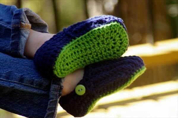 chic crochet kids shoes pattern