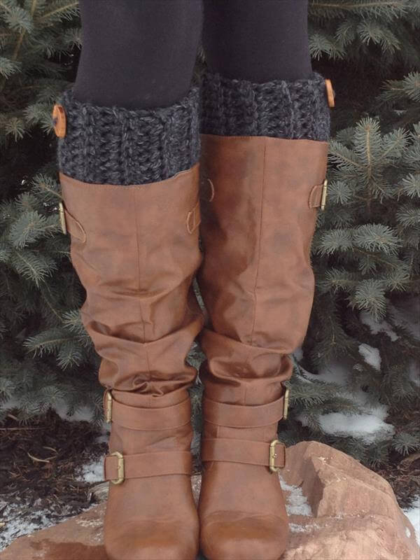 diy easy crochet boot cuffs