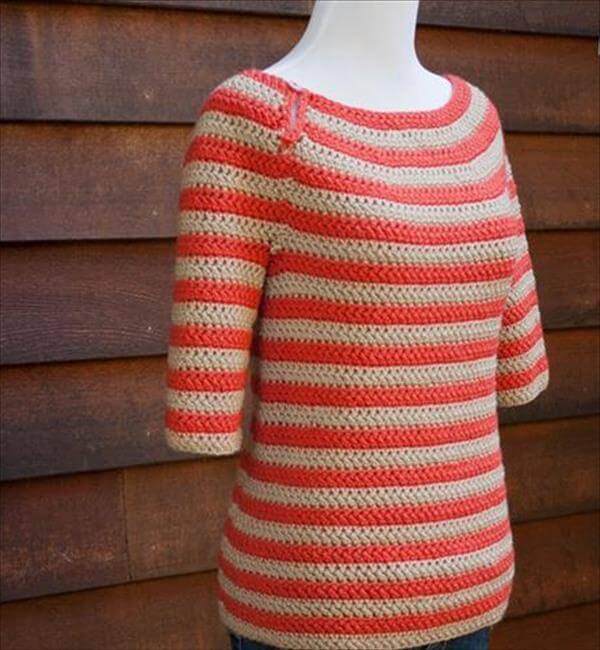 easy women sweater crochet pattern