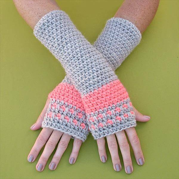 free crochet arm warmer pattern
