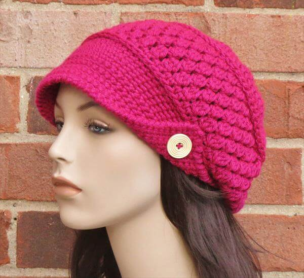 Crochet Hat Free Pattern Woman : free crochet newsboy hat patterns for women