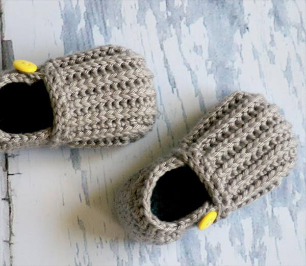 diy crochet kids shoes pattern