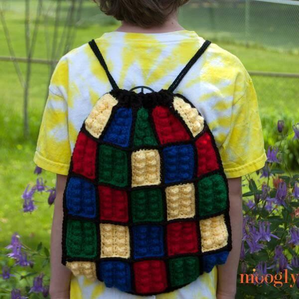 diy lego inspired crochet backpack pattern