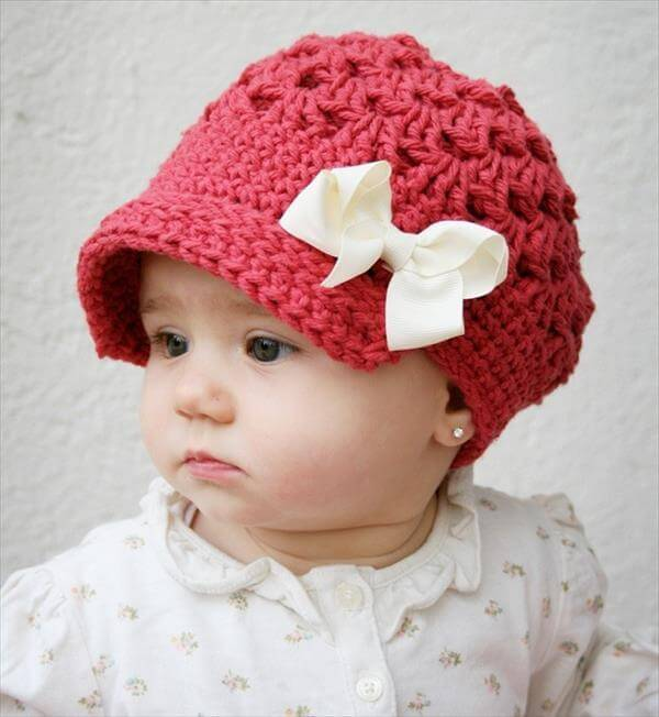 Free Baby Crochet Hat Patterns With Brim : 10 Easy Crochet Hat Patterns for Beginners 101 Crochet