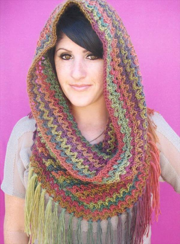 Free Crochet Pattern For A Cowl : 9 Easy Crochet Cowls for Womens 101 Crochet