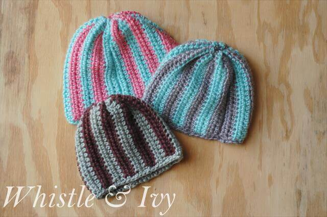 Crochet Beanie Pattern Striped : 10 Easy and Free Crochet Patterns for Your Baby 101 Crochet