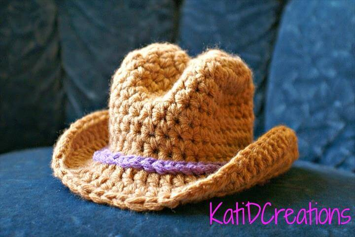 Free Patterns Crochet For Hats : Crochet Cowboy Hat with Wide Brim Pattern 101 Crochet