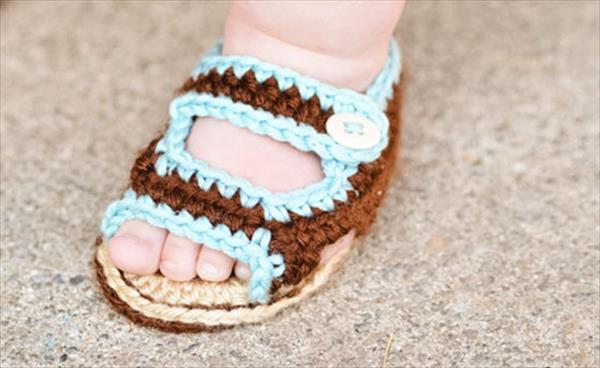free crochet baby summer sandal pattern