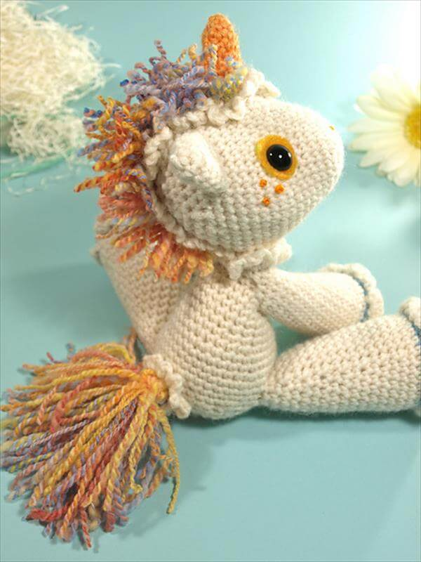 Crochet Baby Unicorn Pattern : Beautiful Crochet Unicorn Pattern - Just Free 101 Crochet