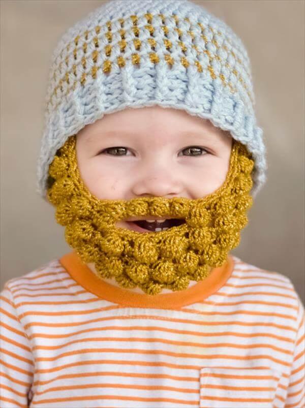 baby bobble beard crochet pattern