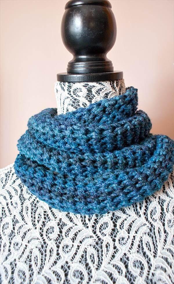 easy crochet cowl pattern for women