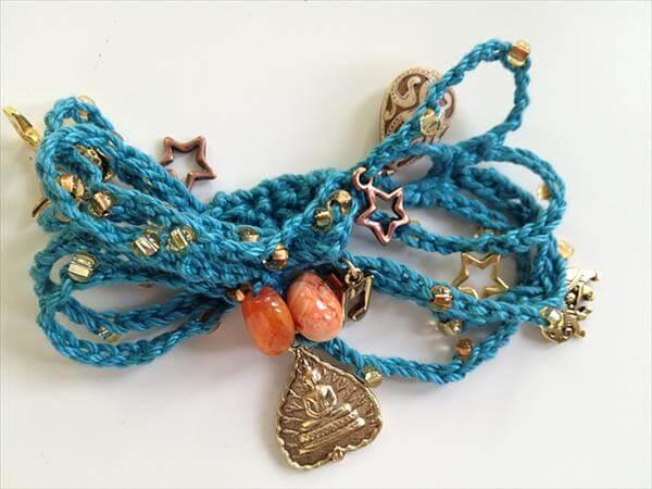 beaded crochet bracelet pattern