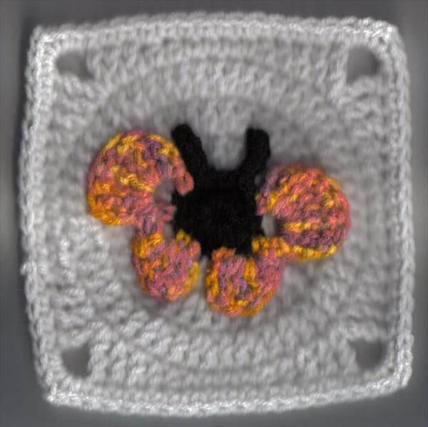 crochet butterfly square pattern