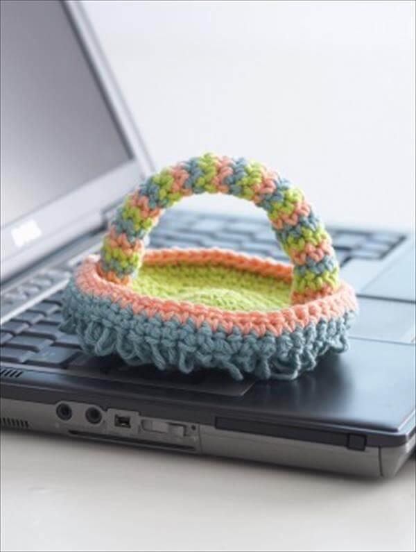 crochet keyboard duster pattern