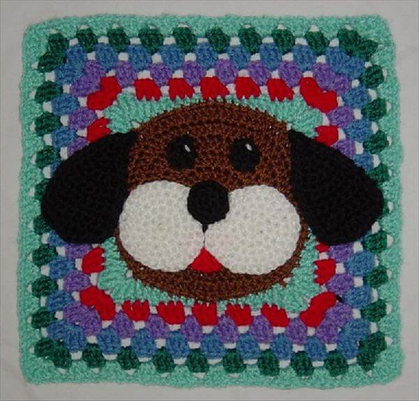 Crochet Pattern For Dog Blanket : 10 Free Crochet Granny Square Patterns 101 Crochet